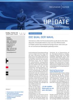 UP|Date Aprill 2017 -  DIE QUAL DER WAHL